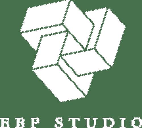 Logo EBP Studio - White small